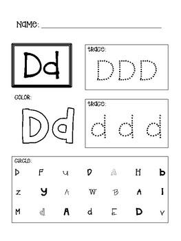 Pre-K/Kindergarten A-Z Alphabet Worksheets (Tracing