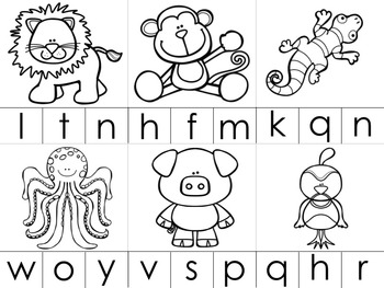 A-Z Animals: Beginning Sounds Clip It Cards by Liz's Early