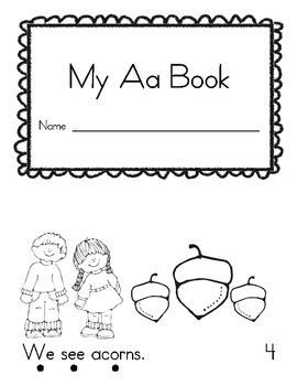 A-Z Emergent reader books with tracking dots by Live Laugh