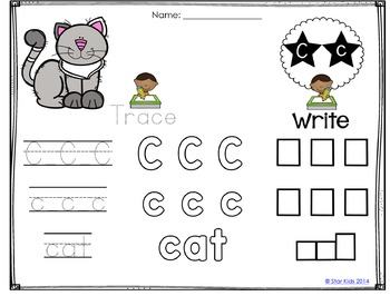 ABC Write and Wipe Practice Cards for Kindergarten by Star
