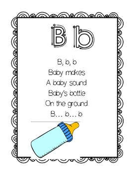 ABC Sound and Letter Recognition Poem Book by Fostering