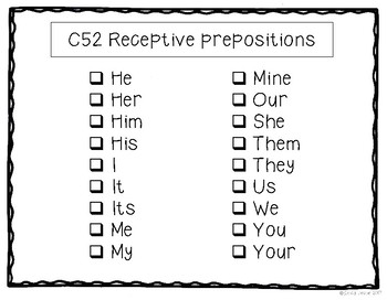 ABLLS-R ALIGNED ACTIVITIES C52 Selects pronouns- Photo