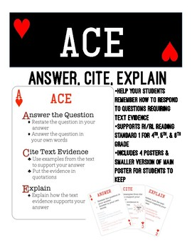 ACE- Answer, Cite, Explain for Inference Questions by