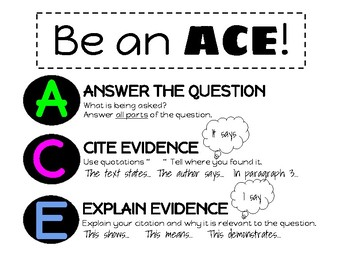 ACE graphic organizer for short answer constructed