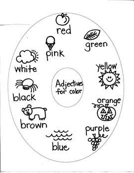 ADJECTIVES (numbers/colors/shapes/sizes) for FIRST GRADE