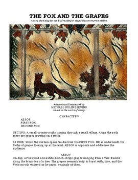 AESOP'S FABLES, six 1-act scripts for out-loud reading or