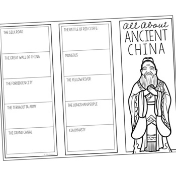 ANCIENT CHINA Research Brochure Template, World History