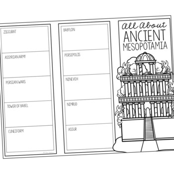 ANCIENT MESOPOTAMIA Research Brochure Template, World
