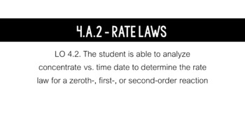 AP Chemistry Big Idea 4 Lesson: Rate Laws (4.A.2) by The