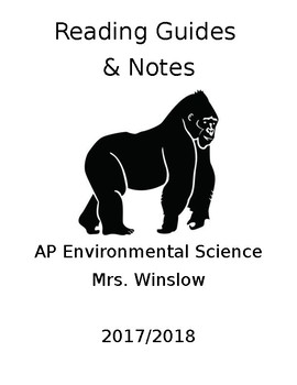 AP Environmental Science 2019-2020 Reading Guides by