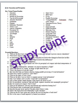 AP Psychology Study Guide BUNDLE by History and Psychology