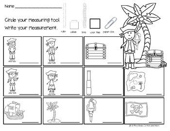 Pirate Math and Literacy for Primary Students by First