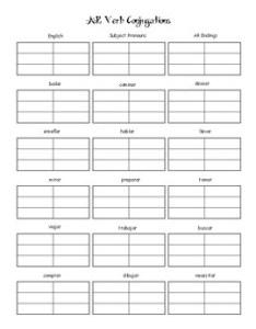 Ar verb conjugation chart also by senora novales teachers pay rh teacherspayteachers