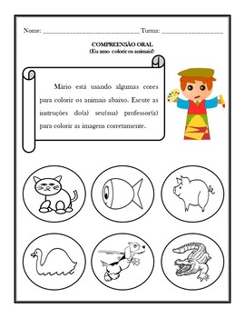 AS CORES: THE COLORS IN PORTUGUESE ACTIVITIES (1ST TO 5TH