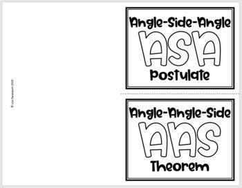 ASA and AAS Triangle Congruence- Geometry Foldable by Lisa