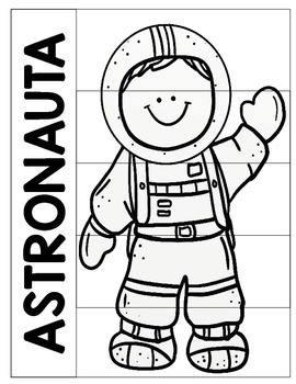ASTRONAUT WRITING ACTIVITY & SHEETS ENGLISH & SPANISH by