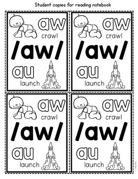 AU and AW Worksheets, Activities and Assessment Reading