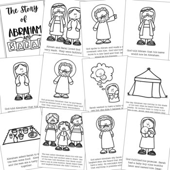 Abraham and Sarah Bible Story Coloring Pages and Posters