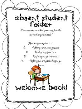 Absent Student Folder by The Spunky Teacher  Teachers Pay