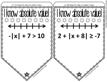Absolute Value Inequalities Pennant Activity by Scaffolded