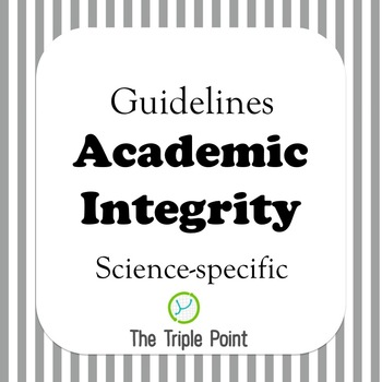 FREE: Academic Integrity guidelines (science specific) by