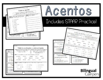 Acentos Practice with Bonus STAAR Questions by Bilingual