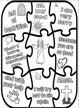 Act of Contrition ~ Sorry Prayer Posters, Worksheets and
