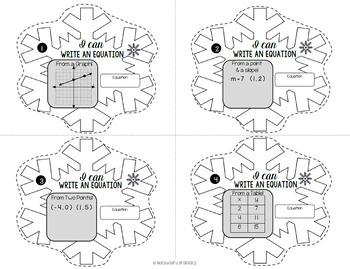 Activity Write Slope Intercept Equations Snowflake Task