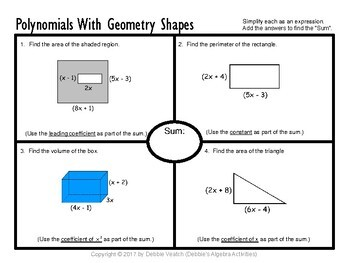 Add, Subtract & Multiply Polynomials AND With Geometry