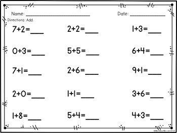 Add & Subtract within 20 (Fluent within 10): 1.OA.C.6