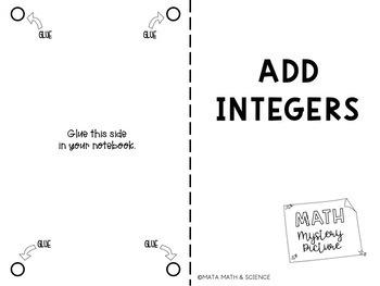 Add Integers: Math Mystery Picture (Emoji) by Mata Math