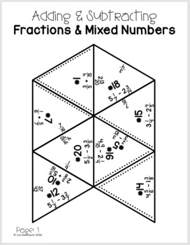 Adding & Subtracting Fractions (PUZZLE) by Lisa Davenport