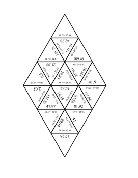 Adding and Subtracting Decimals Tarsia Puzzle by