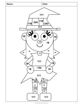 Adding and Subtracting Integers Coloring Challenge: Notes