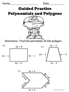 Adding and Subtracting Polynomials No Prep Lesson by Math