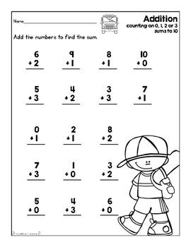 Addition & Subtraction Worksheet Set (Sept. & Oct. Theme
