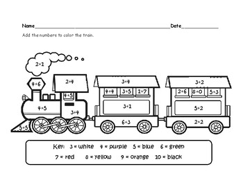 train coloring # 44