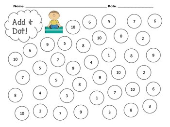Addition and Subtraction Bingo Dauber Math Centers by Lee