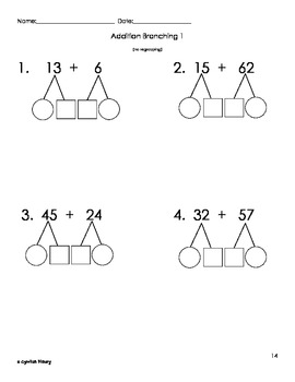 Addition and Subtraction Math Branching Practice Packet by
