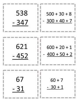 Addition and Subtraction Partial Sums and Differences