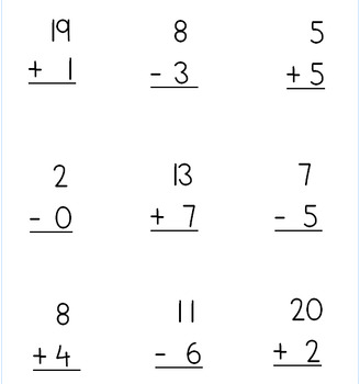 Addition and Subtraction Skills Packet by Self Contained