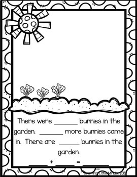 Addition and Subtraction Spring Story Mats by Erica Butler