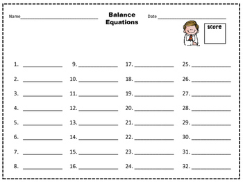 Addition and Subtraction Balance Equations Task Cards by