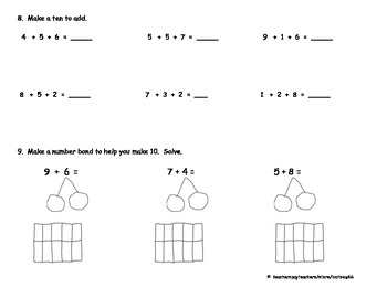 Addition with 3 addends; Make Ten to Add: Grade 1 Module 2