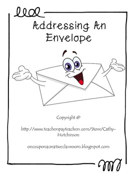 Addressing an Envelope Activity Packet by Once Upon a