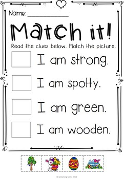 Adjectives Worksheets for Kindergarten and First Grade