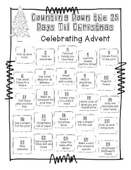 Advent Calendar FREEBIE by Once Upon a Creative Classroom