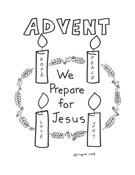 Advent wreath activity pages and banner pages by Ingrid's