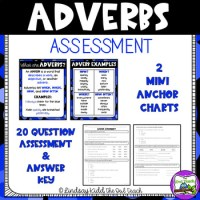 Adverb Quiz & Answer Key by The Owl Teach
