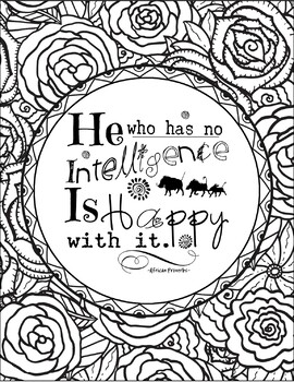 African Proverbs Coloring Pages- Wise and Witty Proverbs